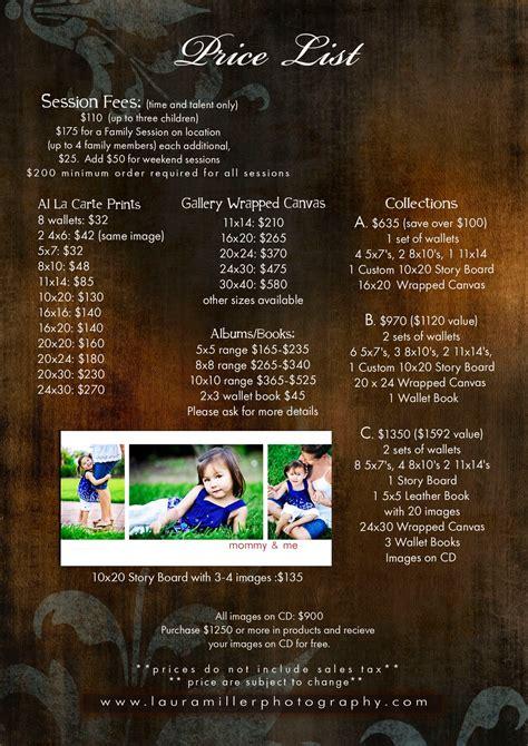 laura miller photography dallas texas  price list