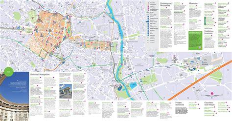 Carte Touristique Du Centre De La by Carte De Montpellier D 233 Couvrir La Ville De Montpelleir