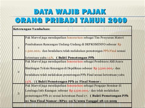 contoh faktur pajak untuk orang pribadi contoh pengisian spt p ph op 1770 s 1770ss 2009