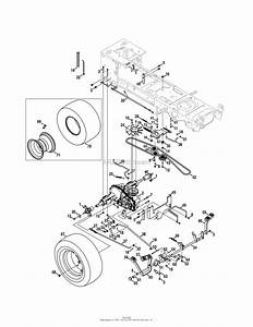 Mtd 14aw94pk099  247 289841   2011   Pgt9000 14aw94pk099  2011  Parts Diagram For Drive  U0026 Rear