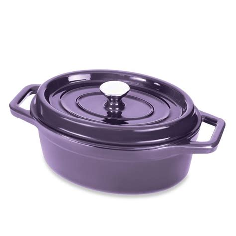 de cuisine kitchenaid cocotte en fonte ovale 29 cm 3 5 l aubergine mathon