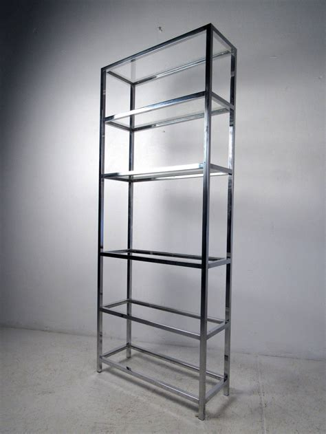 Etagere Modern by Mid Century Modern Chrome And Glass Etagere For Sale At