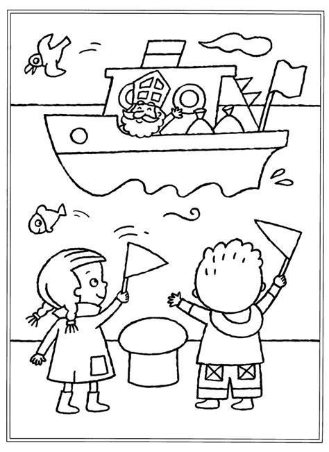 Kleurplaat Feestmuts by 327 Best Sint En Piet Images On Kid Crafts