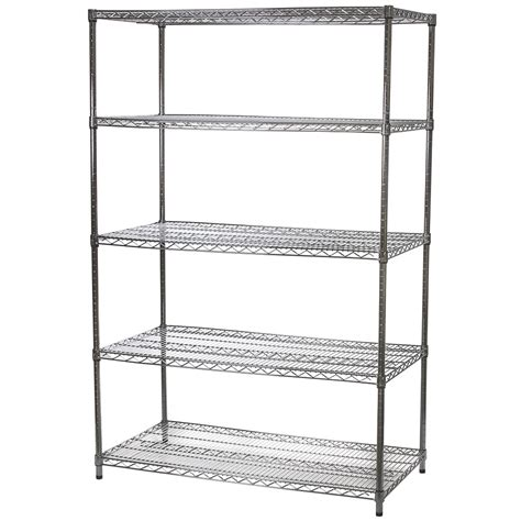 Wire Shelving by Wire Shelving Unit With Five Shelves 24 Quot D X 48 Quot W