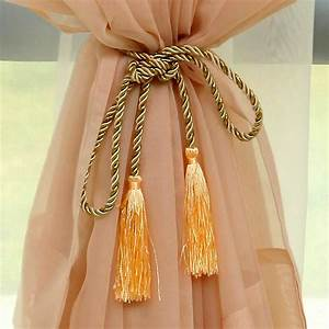 Trendy hot 2 pc lots rope curtain tiebacks curtain tassels for Curtain tie backs placement