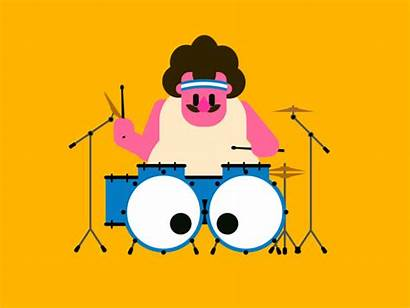 Animated Gifs Animation Summer Drummer Funniest Character
