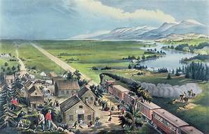 Across The Continent Painting by Currier and Ives