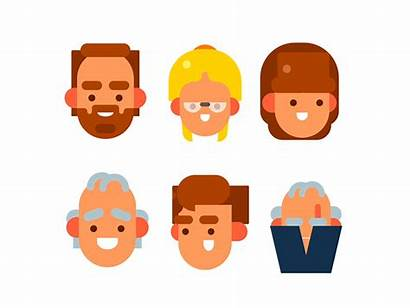 Flat Faces Simple Dribbble Audience Students Animation