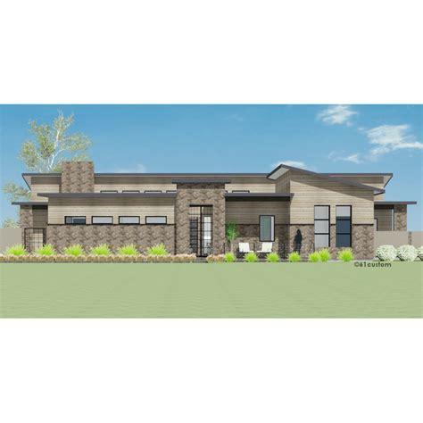custom modern home plans modern courtyard house plan