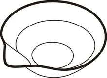 Weighing Boat Drawing by Evaporating Dish