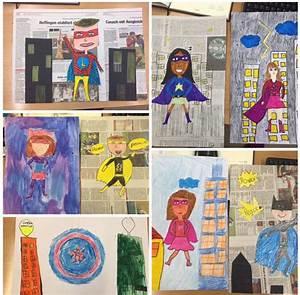 Bilder Collage Basteln : superhelden gemalt collage aus zeitung kunstunterricht malen und basteln in der grundschule ~ Eleganceandgraceweddings.com Haus und Dekorationen