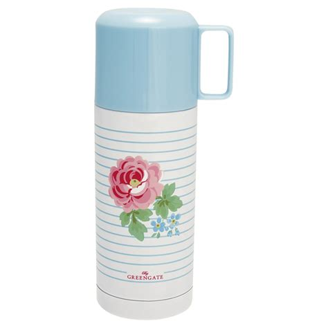 Greengate Thermos Bottle Lily White Eur