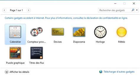 horloge de bureau windows installer des gadgets dans windows 10 wikiclic