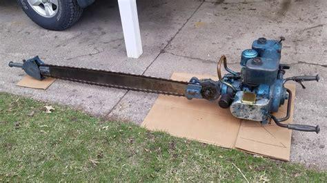 Titan Blue Streak vintage two man chainsaw   YouTube
