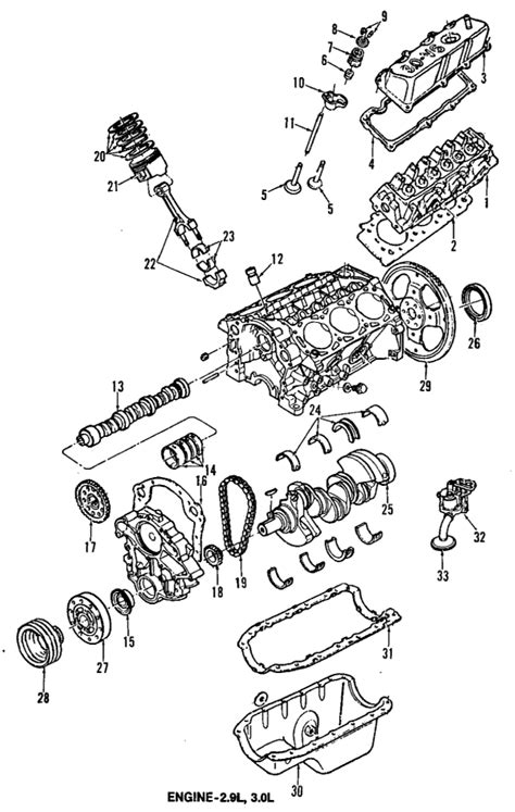 Ford 3 0 Liter Engine Diagram by 1992 Ford Ranger Parts