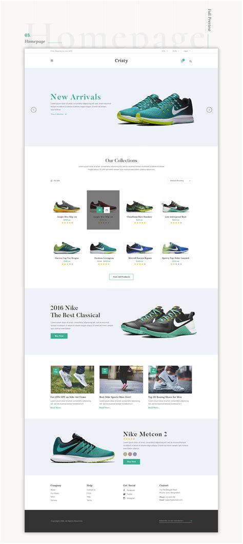 cristy  commerce website template