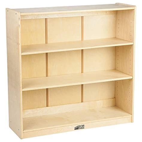 Birch Bookcases by Ecr4kids 36 Quot Adjustable Shelf Bookcase Birch Import It All