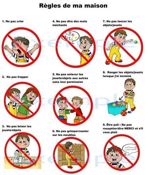 les regles de vie chez nounou