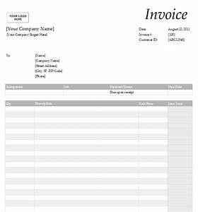 Free service invoice template for Online invoice service