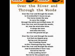 the river and through the woods thanksgiving rhymes songs
