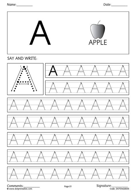 trace  write  capital letter writing practice