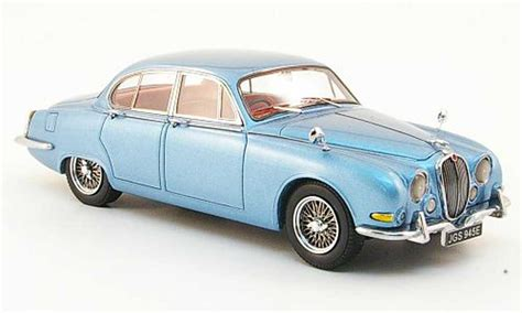 Jaguar S Type 3.4 Blue Clair 1965 Neo Diecast Model Car 1