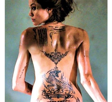 Top 25+ Best Angelina Jolie Back Tattoo Ideas On Pinterest
