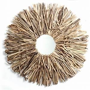 Miroir Bois Flotté : miroir bois flotte bali cercle design nature homethik idee deco etre soi photos club ~ Teatrodelosmanantiales.com Idées de Décoration