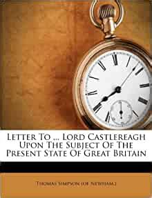 amazoncom letter  lord castlereagh