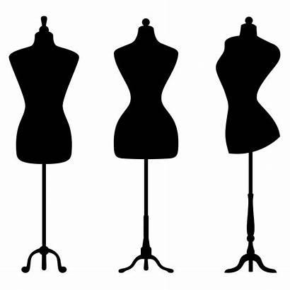 Mannequin Clipart Silhouette Clip Form Transparent Sewing