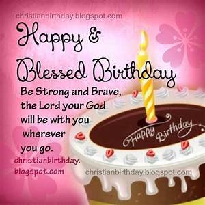 Happy and Blessed Birthday Christian Card