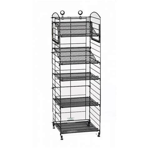 wire display racks black matte 5 shelf fold up rack wire display rack bakery