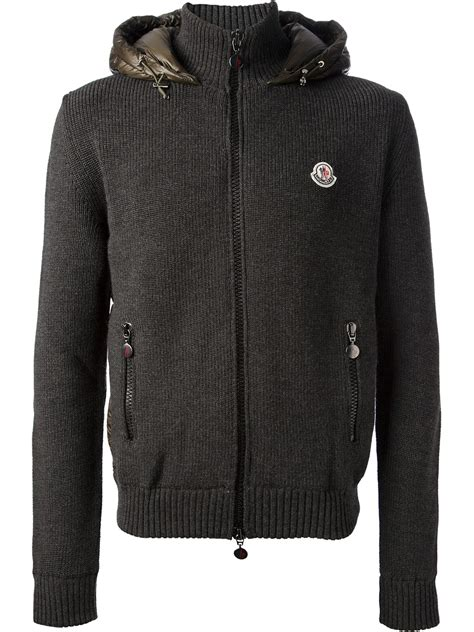 reversible padded jacket moncler reversible padded jacket in gray for lyst