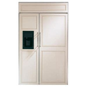 ge monogram gzisbdx side  side refrigerator custom panel tall cabinet storage door