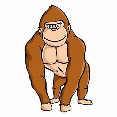 Gorilla Clipart Clip Ape Brown Knuckles Printable