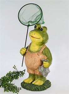 Frosch Deko Garten : frosch kr te kescher fisch lurch gecko deko garten tier ~ Articles-book.com Haus und Dekorationen