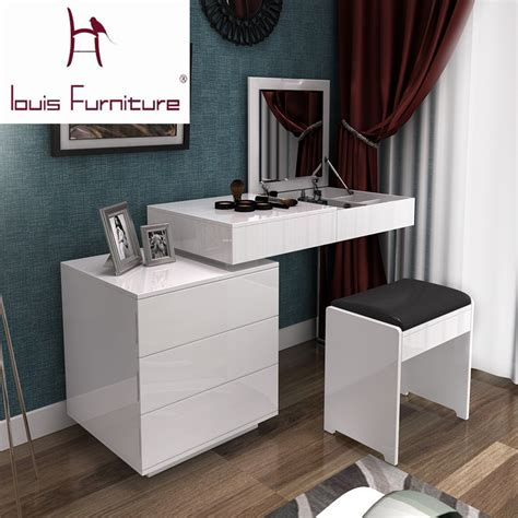 Desks For Small Bedrooms by Fashion White Paint Small Apartment Telescopic Minimalist