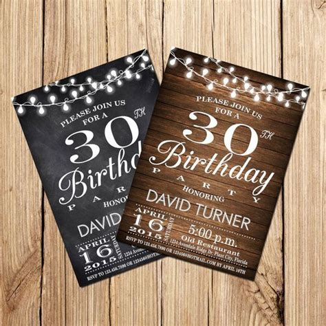 30th BIRTHDAY INVITATION 30th 40th 50th Birthday by