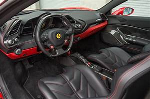 2016 Ferrari 488 GTB front interior detail - Motor Trend