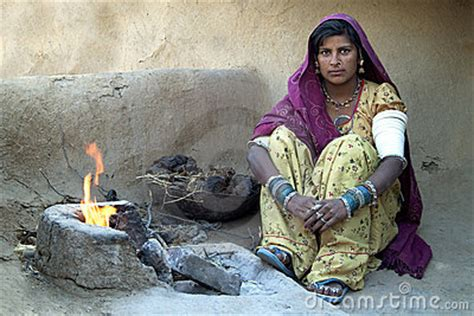 rajasthani village life  editorial photography image
