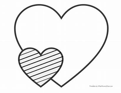 Coloring Heart Easy Printable Simple Patterns Cuori