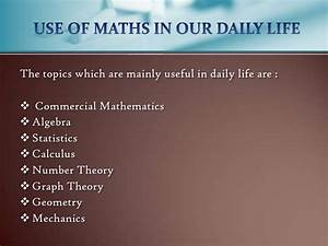 Maths in Our Daily Life