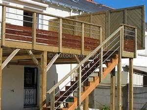 construire une terrasse bois sur pilotis With plan d une terrasse en bois sur pilotis