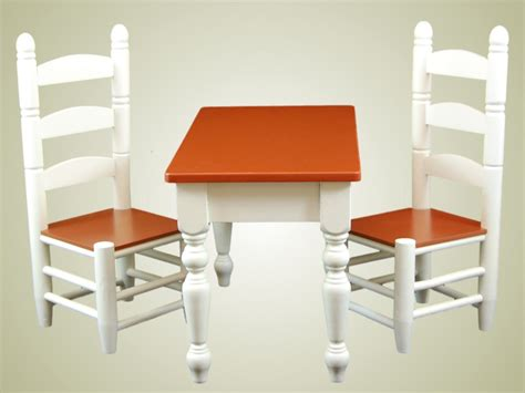 18 doll furniture table and chairs farmhouse collection farm table chairs for american