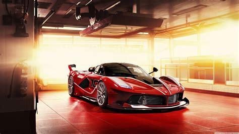 Red Ferrari Fxx K Supercar 4k Hd Desktop Wallpaper For
