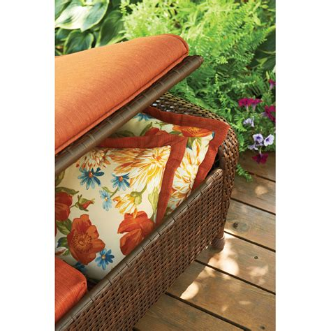 better homes and gardens ottoman cushions better homes and gardens azalea ridge storage ottoman