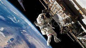 Astronaut Spacewalk Working on International Space Station ...