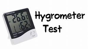 Salt Water Test On Digital Hygrometer  Htc-1