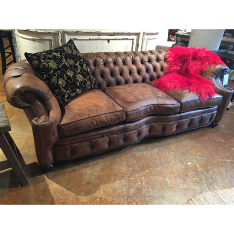 old hickory tannery sofa leather tufted sofa 1042 03 old hickory tannery sale