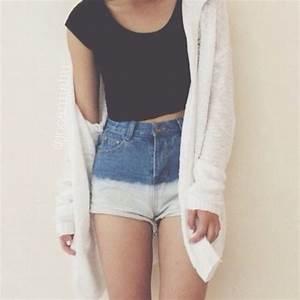 Shirt: black, crop tee, black crop top, short sleeve ...
